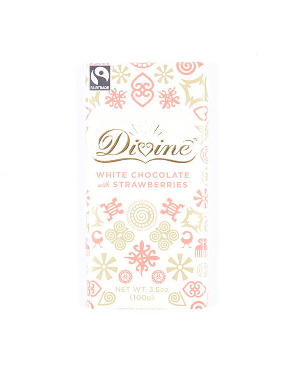 Divine White Chocolate with Strawberries via The Little Market