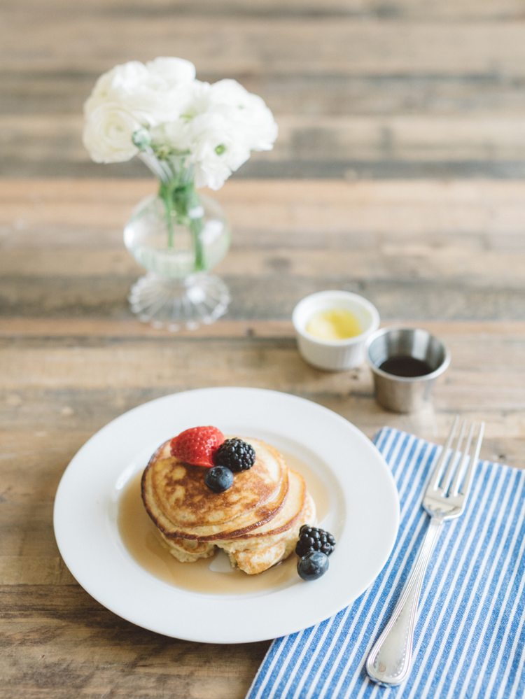 Favorite Healthy Breakfast {Be Well by Kelly's Protein Pancakes}
