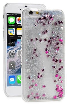 Skinny Dip Silver Glitter iPhone Case