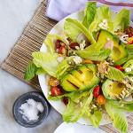 Good Eats: Grilled Avocado Salad with Green Goddess Dressing