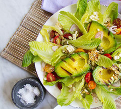 The best summer salad with grilled avocado.