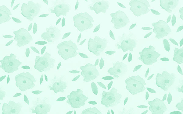 Mint floral tech wallpaper designed by Jen B. Peters.