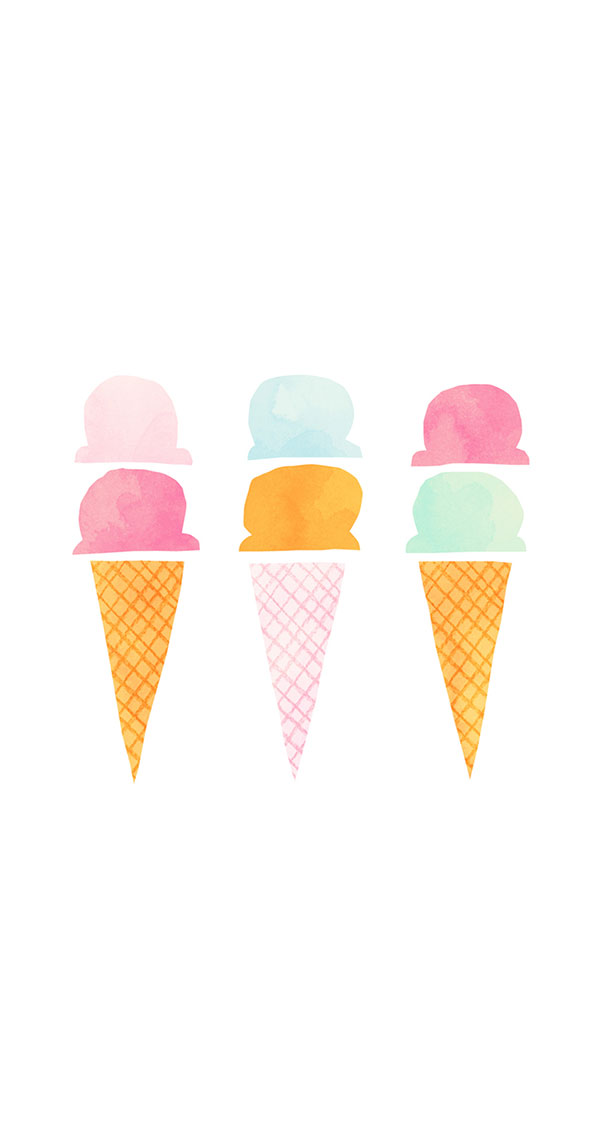 Ice cream cone iPhone wallpaper on LaurenConrad.com