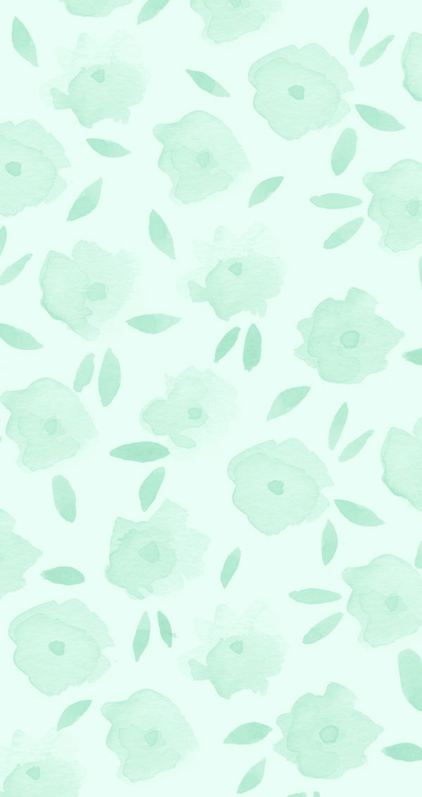 Mint floral iPhone wallpaper on LaurenConrad.com