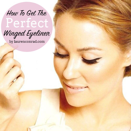 How to get Lauren Conrad's perfect winged eyeliner.