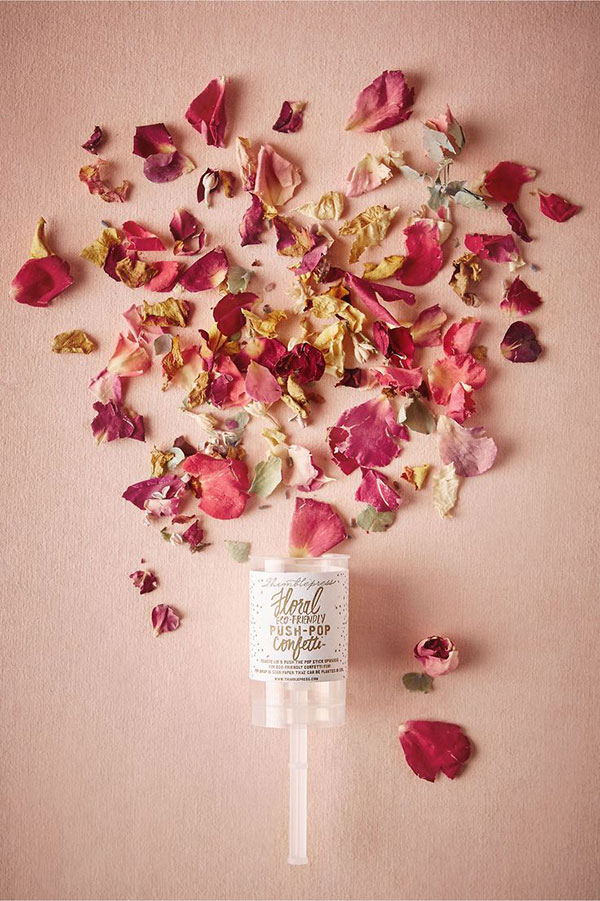 Favorite Inspired Idea (floral push pop confetti, like this one from BHLDN)