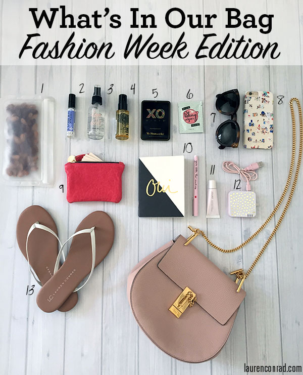 What's In Team LC's Bag: Fashion Week Edition