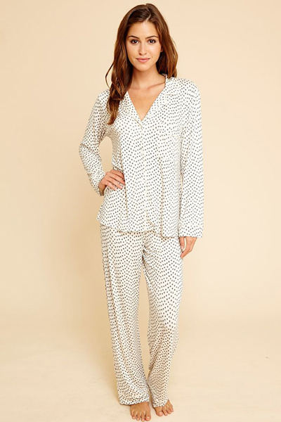 Eberjey Sleep Chic PJ Set in Shitake Animal