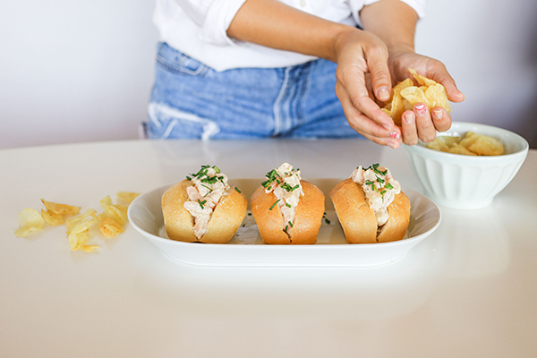 These Shrimp Lobster Rolls paired perfectly with Summer Rosé!