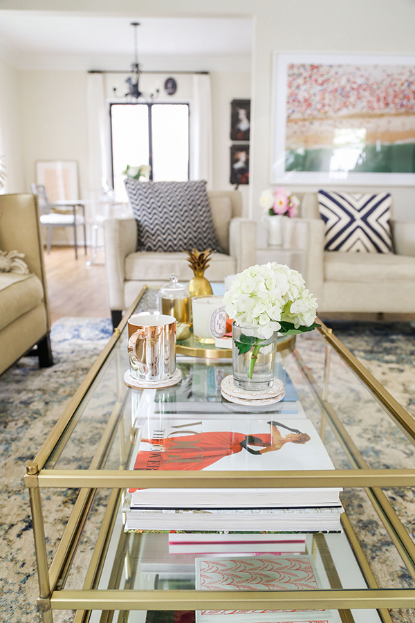 LaurenConrad.com's Living Room Makover with Loloi Rugs