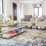 Home Makeover: A Bright & Airy Blue Themed Living Room