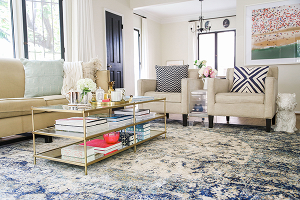 Home Makeover: A Bright & Airy Blue Themed Living Room ...