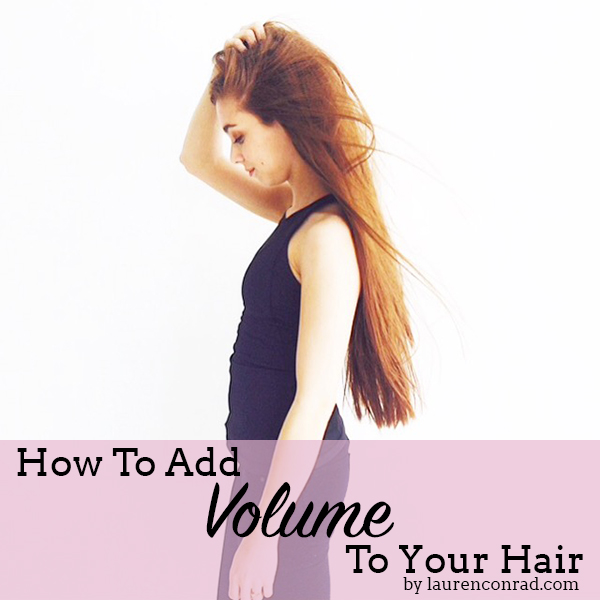 Beauty Note: How To Add Extra Volume To Your Hair