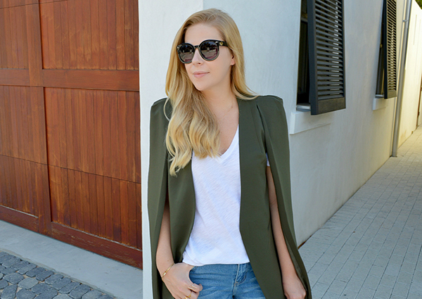 Embrace your inner cool girl with this cape jacket.