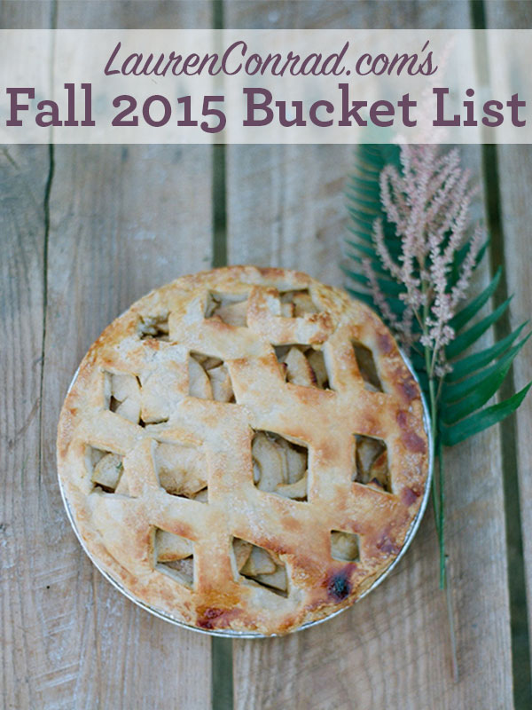 Bucket List: 10 Things to Try This Fall