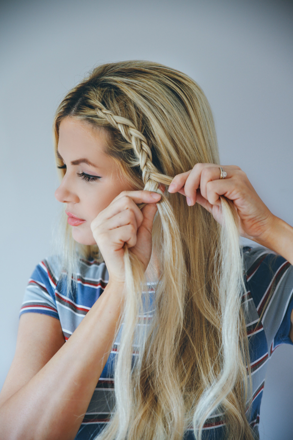 Step-By-Step Tutorial for The Double Dutch Braid Bun