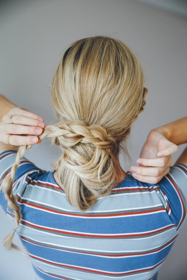 The Double Dutch Messy Bun Braid | How To