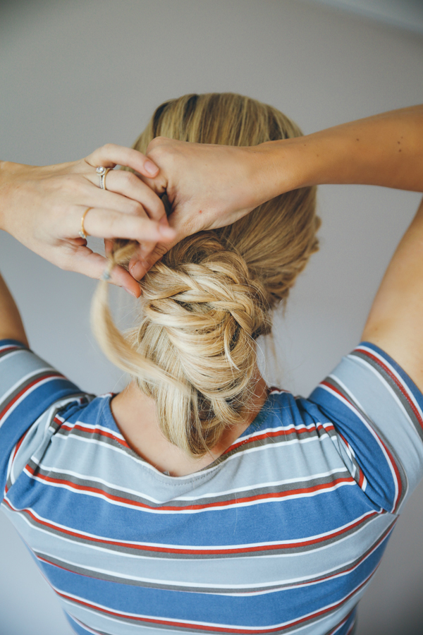 How to Do the Messy Bun Double Dutch Braid | LaurenConrad.com