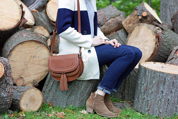 How cute is this cardigan + boot combo?