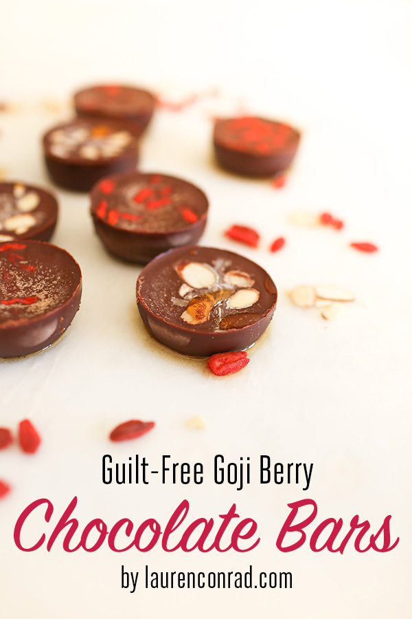 Guilt-Free Goji Berry Chocolate Bars