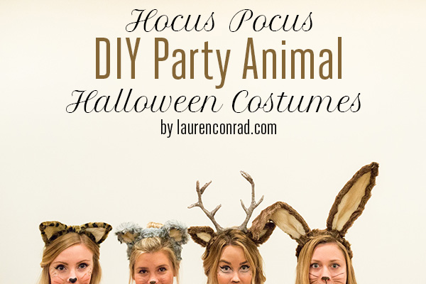 Hocus pocus my halloween party animals costume lauren conrad and lauren conrads halloween costume this year is solutioingenieria