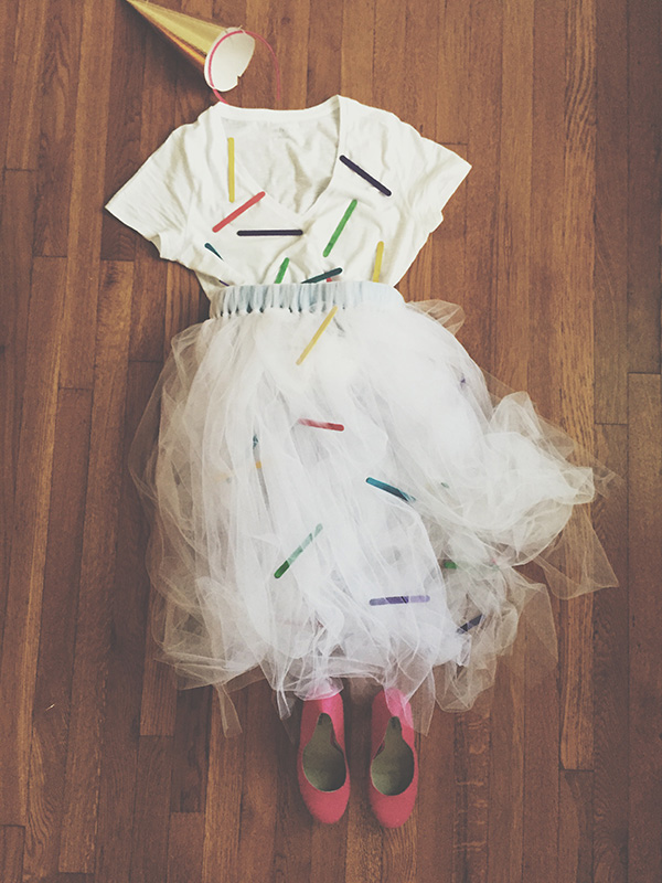 DIY Ice Cream Cone Costume.