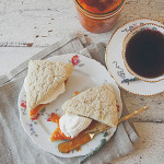 Edible Obsession: Lavender Scones with Homemade Devonshire Cream and Pumpkin Marmalade