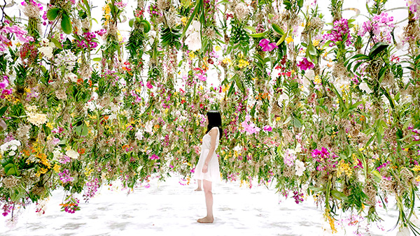 We dream of visiting the floating flower garden in Tokyo
