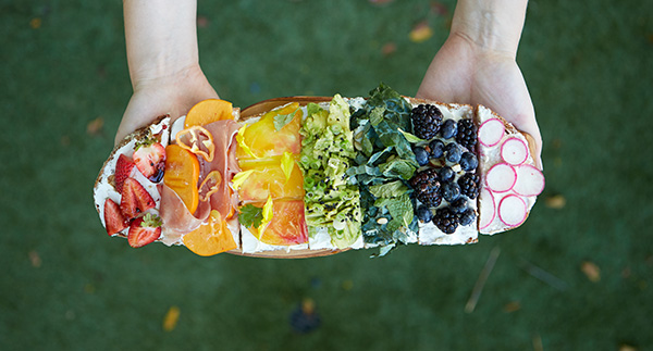 The most delicious rainbow tartine.