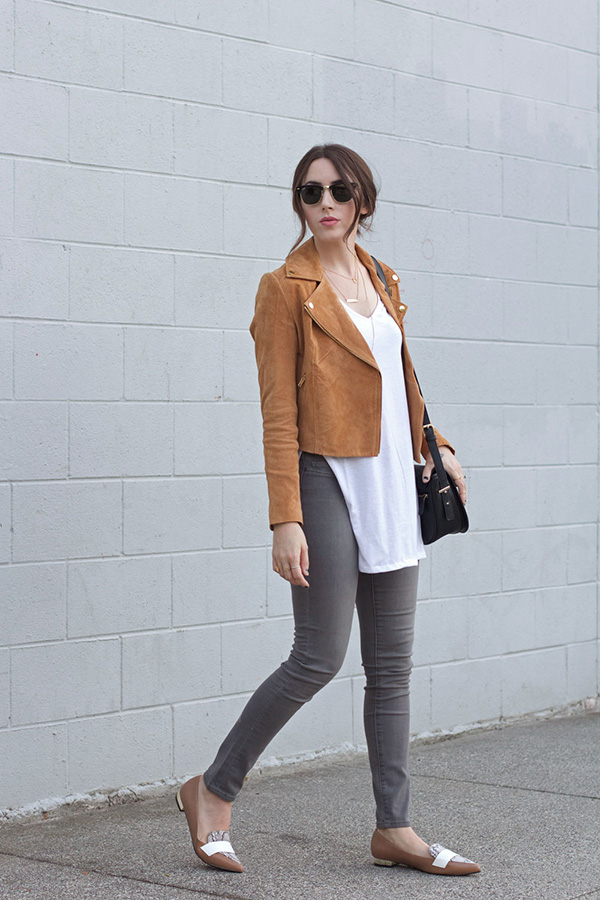 There's nothing better than a faux suede moto jacket for fall!
