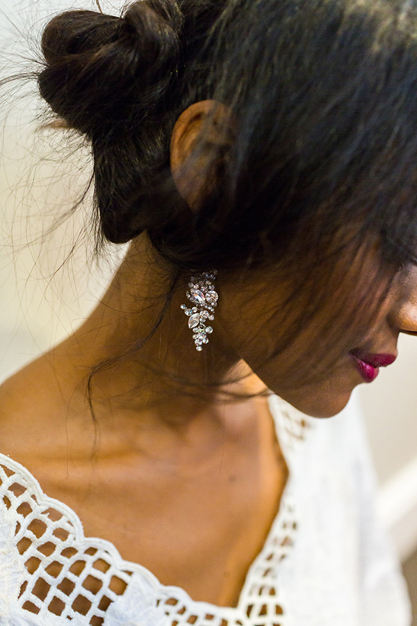 Perfect finishing touches at the Spring 2016 Allure Bridal Runway Show.