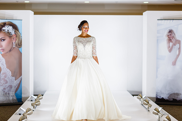 the Allure bride is a woman who is traditional and modern at the same time.