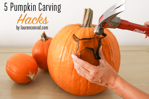 5 Unconventional Pumpkin Carving Hacks | LaurenConrad.com