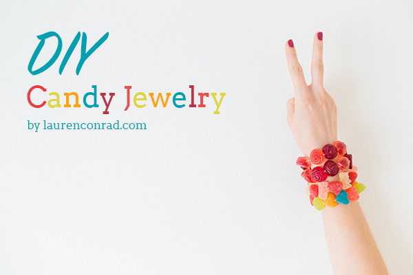 DIY gummy candy bracelet