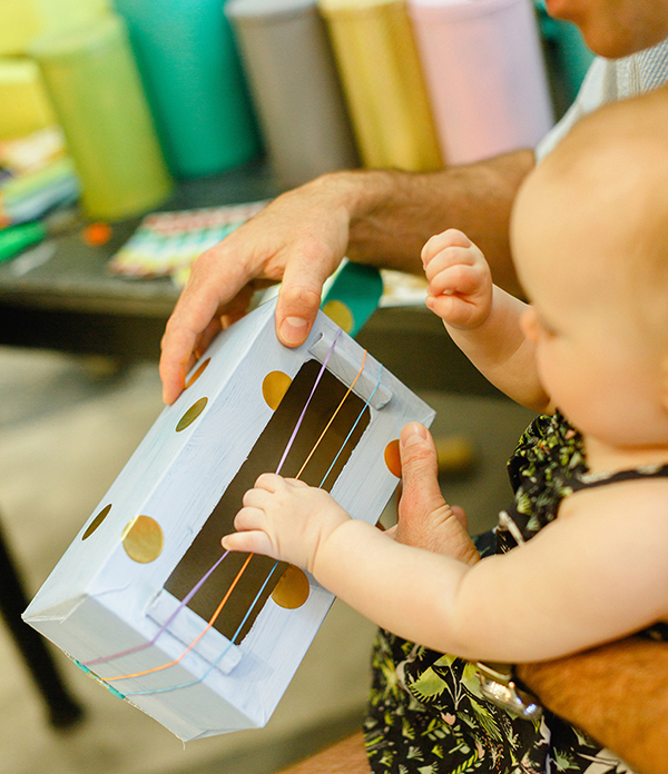 Handmade musical instruments for kids