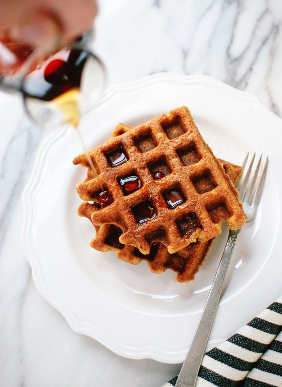 Favorite Fall Flavor (whole grain pumpkin spice waffles from Cookie + Kate)