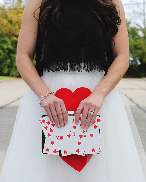 No Queen of Hearts costume would be complete without a card clutch.