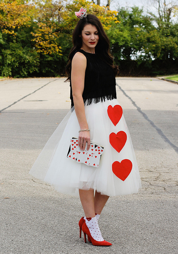 Haley's DIY Queen of Hearts costume!