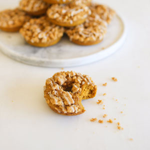 Edible Obsession: Baked Pumpkin Crumble Donuts