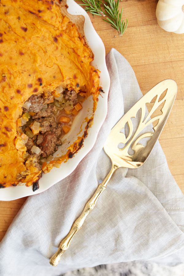 Healthy, grain-free shepherd's pie.