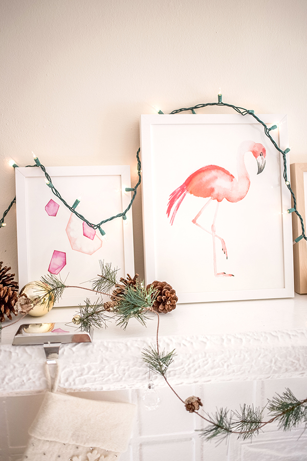 How sweet is this flamingo print from Minted?