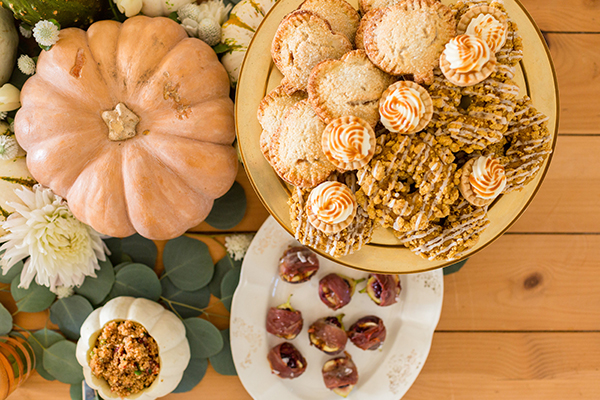 A Thanksgiving tablescape by LaurenConrad.com.