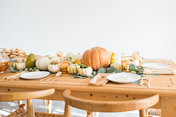 LaurenConrad.com's Thanksgiving tablescape.