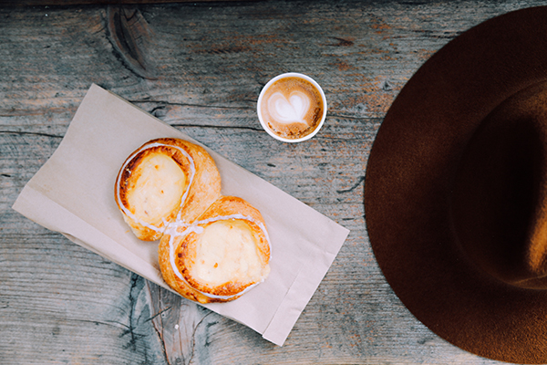 Delicious pastries and a daily cortado at Rosetta Panaderia.