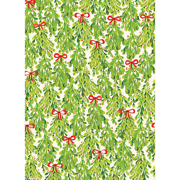 Paper Source Watercolor Mistletoe Wrapping Paper