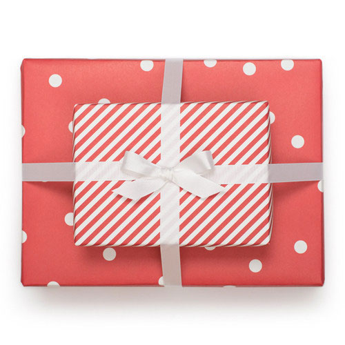 Sugar Paper Reversible Wrap in Cheerful Red