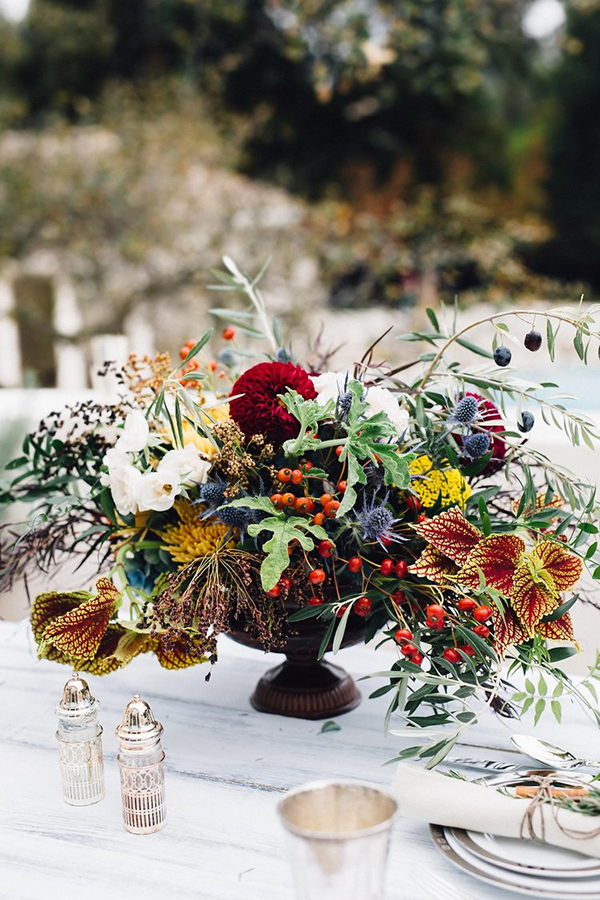 A winter tablescape styled to perfection.