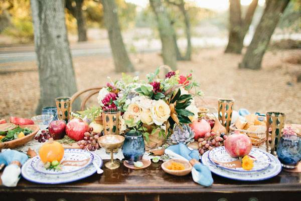 Favorite Fall Tablescape (featuring The Little Market dishware and styled by Beijos Events)
