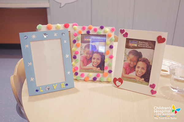 Team LC's day at Children's Hospital Los Angeles included making this fun picture frames.