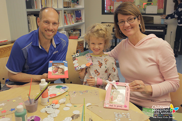 The most rewarding part of our time crafting at Children's Hospital Los Angeles was seeing the smiles on the faces of both the children and their parents.